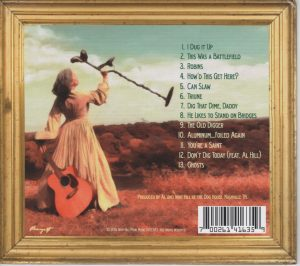 I Dug It Up CD back cover